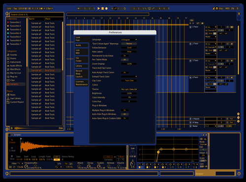 Vintage blue/gold Theme for Ableton 10 by Daniel