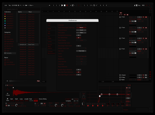 Red Operator Theme for Ableton 10 by Danny Urbanski