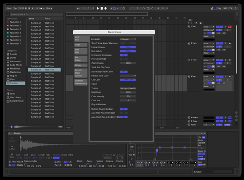 Indigo Theme for Ableton 10 by Ben McInnis