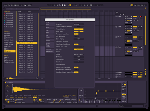 Flame yellow edited Theme for Ableton 10 by ALTRN8