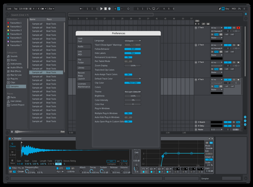 IBad MidGrayBlue Theme for Ableton 10 by iBad72