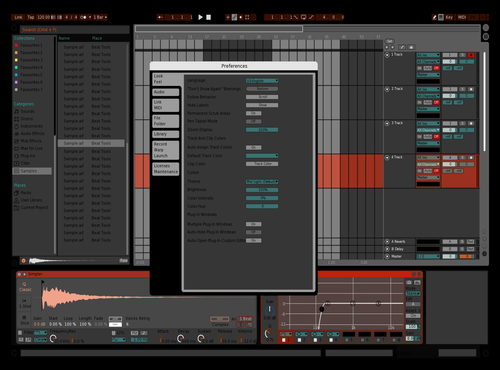 Volker Orange blue black Theme for Ableton 10 by volkerputt420