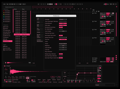 MonoPink Theme for Ableton 10 by Sincosine