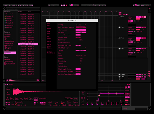 Ableton pink Theme for Ableton 10 by tyler