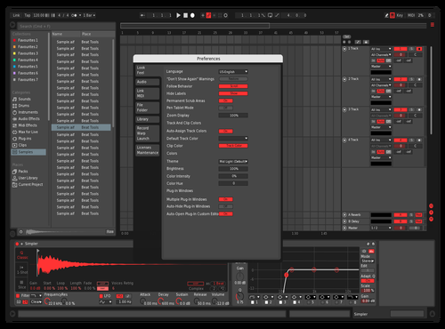 REDSKIN Theme for Ableton 10 by roque