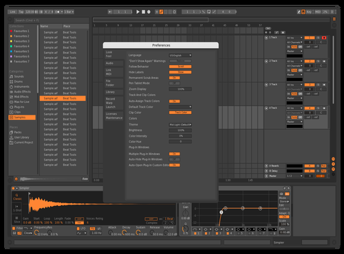 Bitwig Remake Theme for Ableton 10 by samoletovp