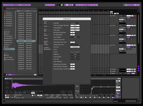 DnzPurple Theme for Ableton 10 by Dan