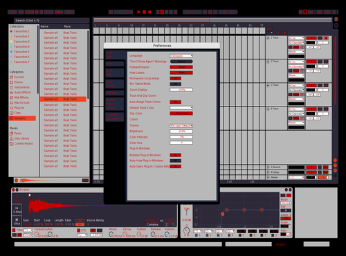 RushN'Roulette Theme for Ableton 10 by Adam