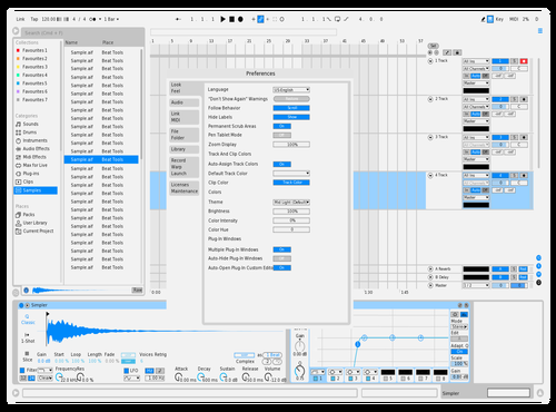 Blue Light Adobe Theme for Ableton 10 by Hoang