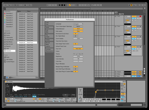 Mid light ghost Theme for Ableton 10 by studiopolyphonic