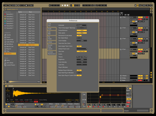 Middark_yellow_red Theme for Ableton 10 by Maximilian Döttl
