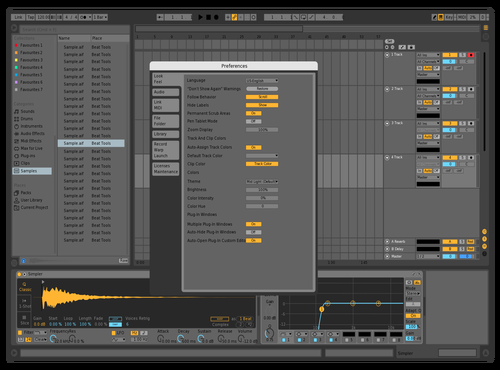Oiuuyyttrew Theme for Ableton 10 by erota