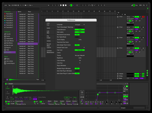 P 'n G Dark Theme for Ableton 10 by Ziggy Zaine