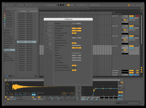Mid Dark 3 Theme for Ableton 10 by yoo