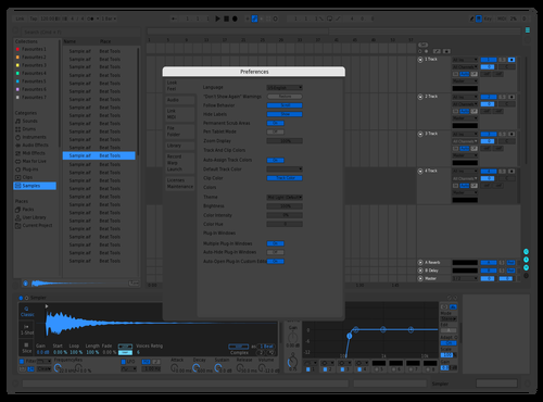 Space Grey Toby 2 Theme for Ableton 10 by yoo