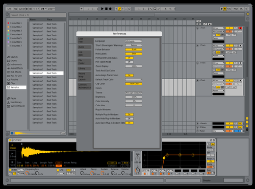 Live 9 Tweak Theme for Ableton 10 by David Mackey
