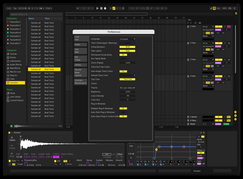 Epix Theme for Ableton 10 by Tom Wingham