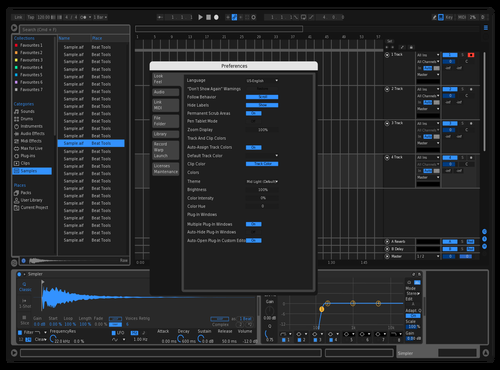 Nightshift Theme for Ableton 10 by Mango