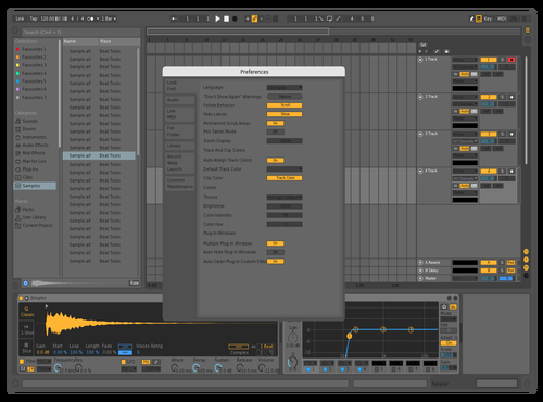 Mid light darker 2 Theme for Ableton 10 by madcre8r