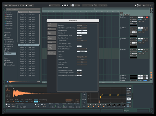 Material Theme Theme for Ableton 10 by nibra.