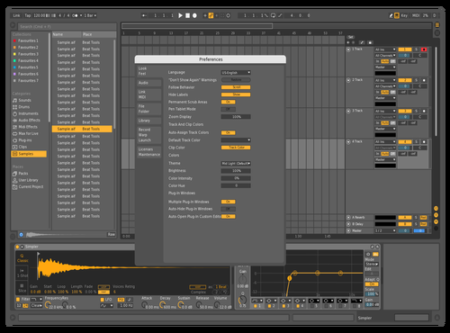 MidDark Orange Theme for Ableton 10 by sheepy