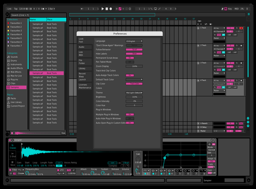 Dark Seafoam Pink Theme for Ableton 10 by Paul Matthew