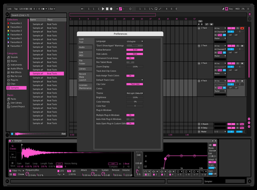 Touch Of Pink Theme for Ableton 10 by Paul Matthew