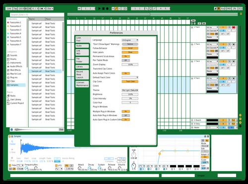Excel Theme for Ableton 10 by Slowparty