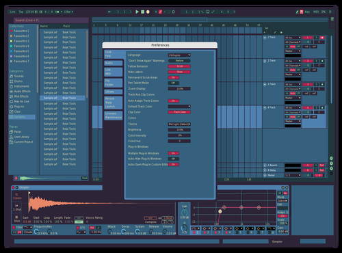 Color Palette One Theme for Ableton 10 by Claudian Reyn