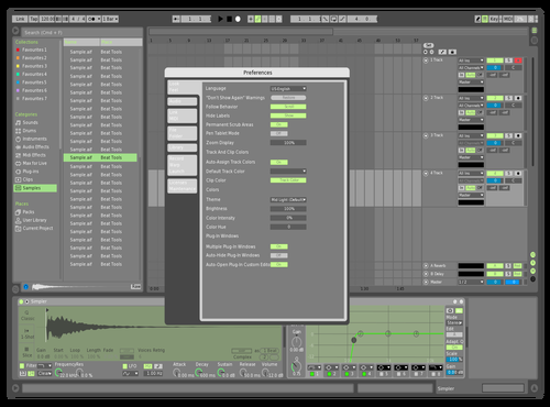 Green Slick Theme for Ableton 10 by Dancho Avramovski