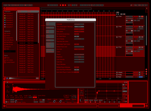 Red Theme for Ableton 10 by GONE FEAR