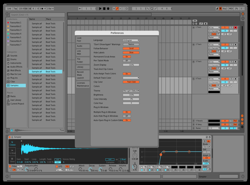 Mid Orange n Teal Theme for Ableton 10 by joboo