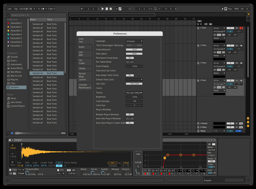 Dark SP Theme for Ableton 10 by SP