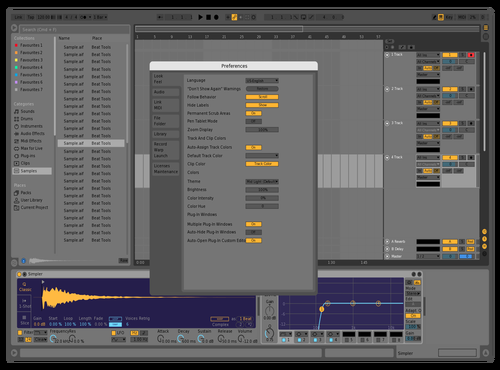 Mid Xxx Fixed Purple Theme for Ableton 10 by Nauj