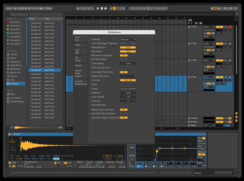 NightSky Theme for Ableton 10 by Avior