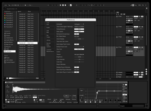 White accent Theme for Ableton 10 by attemptedzen