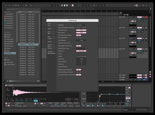 Skygate's pink Theme for Ableton 10 by skygatebeats
