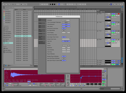 Live 9 with Blue Theme for Ableton 10 by black