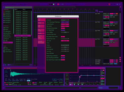 Cyber update Theme for Ableton 10 by Evan Ryder