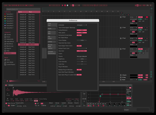LighterTioLightFont Theme for Ableton 10 by Alexandre Cabral