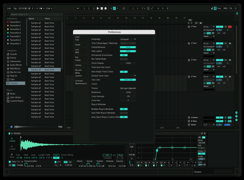 Green Theme for Ableton 10 by Ryuya