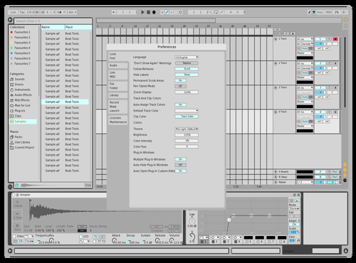 Light grey dark lines Theme for Ableton 10 by attemptedzen