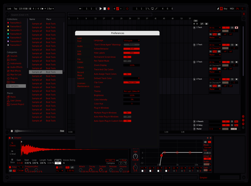 Black n red Theme for Ableton 10 by Paul