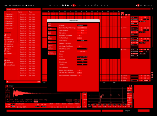 S P A W N - BLK RED Theme for Ableton 10 by SPAWN13