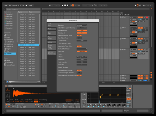 Mid Dark - Orange Theme for Ableton 10 by System Online