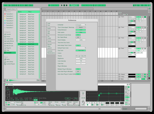 BLOND Theme for Ableton 10 by jj