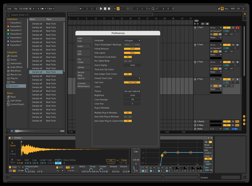 1DarkTheme Theme for Ableton 10 by Gurney