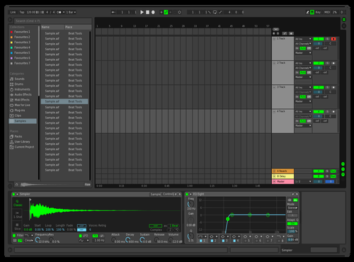 Dark Lime Theme for Ableton 10 by Nick