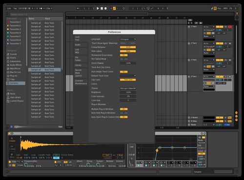 Dark (Updated) Theme for Ableton 10 by Bishop