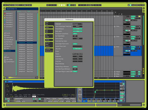 TrainerTracksTriple Theme for Ableton 10 by SNK